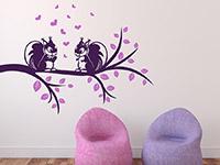 Wandtattoo Zweifarbiger Ast mit Eichhörnchen | Bild 4