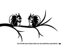 Wandtattoo Eichhörnchen auf dem Ast Motivansicht