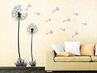 Wandtattoo Pusteblumen Set im Wohnbereich