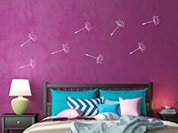Wandtattoo Zusatzsamen Garderobe Pusteblume im Schlafzimmer