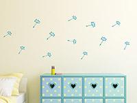 Wandtattoo Zusatzsamen Set Pusteblumen mit Herzen | Bild 4