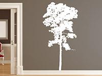 Wandtattoo Baum Umriss im Flur in weiß