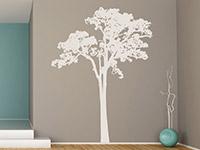 Wandtattoo Baum Kontur im Flur in weiß
