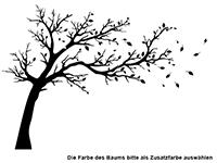 Wandtattoo Großer Baum zweifarbig Motivansicht