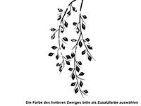 Wandtattoo Zweifarbige Blätterzweige Motivansicht