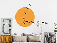 Wandtattoo Zugvögel im Sonnenlicht | Bild 4