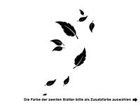 Wandtattoo Blätter Deko Motivansicht