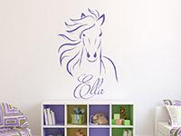Wandtattoo Wildes Pferd mit Wunschname | Bild 4