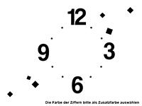 Wandtattoo Uhr Cubes zweifarbig Motivansicht