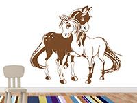 Wandtattoo Verliebte Ponys | Bild 2