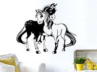 Wandtattoo Verliebte Ponys | Bild 4