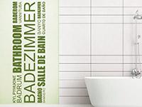 Wandtattoo Badezimmer in vielen Sprachen | Bild 2