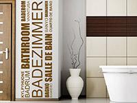 Wandtattoo Badezimmer in vielen Sprachen | Bild 3