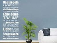 Wandtattoo Hausregeln | Bild 4