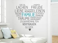 Wandtattoo Familie im Herzen | Bild 4