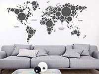 Wandtattoo Weltkarte aus Kreisen | Bild 2