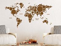 Wandtattoo Weltkarte aus Kreisen | Bild 4