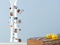 Wandtattoo Birkenstämme mit Fotorahmen | Bild 2