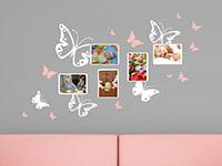 Wandtattoo Schmetterlinge mit Fotorahmen | Bild 3