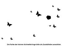 Wandtattoo Fotorahmen Schmetterlinge Motivansicht