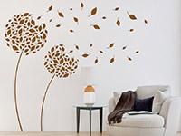 Wandtattoo Blätterblumen im Wohnzimmer