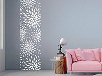 Wandtattoo Banner Moderne Blüten