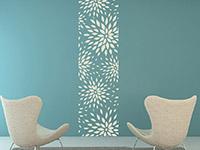 Wandtattoo Banner Moderne Blüten im Wohnzimmer