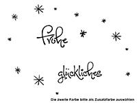 Wandtattoo Frohe Weihnachten mit süßen Vögeln Motivansicht
