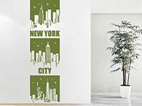 Skyline Wandtattoo Banner New York City im Flur