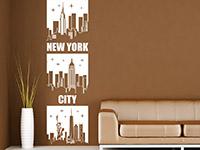Wandbanner Wandtattoo Banner New York City in weiß