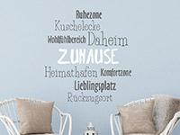 Wandtattoo Wohlfühlbereich Zuhause | Bild 3