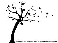 Wandtattoo Sternenbaum Motivansicht