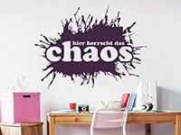 Wandtattoo Hier herrscht das Chaos im Kinderzimmer