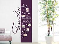 Bilderrahmen Wandtattoo Fotorahmen Banner Familie in Farbe