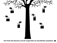 Wandtattoo Fotorahmen Imposanter Baum Motivansicht