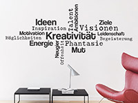 Wandtattoo Kreativität Wortwolke