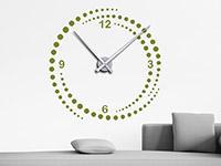 Wandtattoo Uhr Wirbel im Wohnzimmer