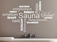 Wandtattoo Sauna Begriffe | Bild 3