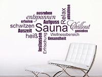 Wandtattoo Sauna Begriffe | Bild 4