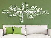 Wandtattoo Gesundheit Begriffe | Bild 3