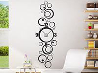 Wandtattoo Uhr Retro Kreise im Wohnzimmer