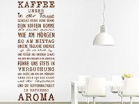 Wandtattoo Kaffee unser in der Küche
