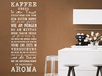 Kaffee Wandtattoo Kaffee unser in weiß