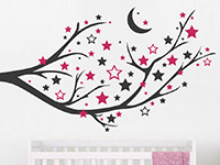 Wandtattoo Ast mit Mond und Sternen | Bild 2