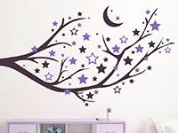 Wandtattoo Ast mit Mond und Sternen | Bild 3