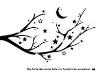 Wandtattoo Sternenast Motivansicht