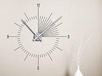 Wandtattoo Uhr Moderne Zeit im Flur