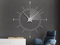 Wanduhr Wandtattoo Uhr Moderne Zeit in weiß
