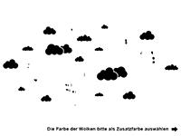 Wandtattoo Set Wolken und Heißluftballons Motivansicht