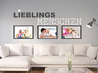 Wandtattoo Fotorahmen Lieblingsmenschen über der Couch